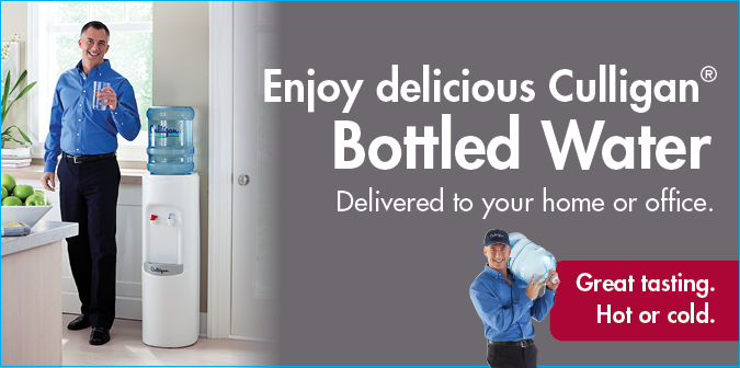 Enjoy delicious Culligan Bottled water delivered to your home or office. Great tasting. Hot or cold.