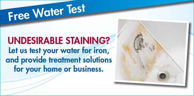 Undesirable staining caused by rust in your water?